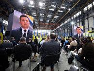 Президент Украины Владимир Зеленский выступает на пресс-конференции