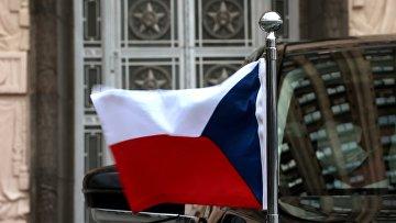 Флаг на автомобиле посла Чехии в РФ
