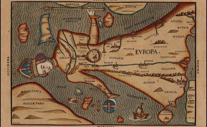 Карта мира Генриха Бантинга, 1581 год