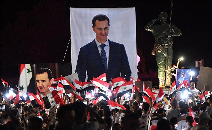 Акция в поддержку президента Сирии Б.Асада