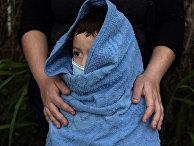 Четырехлетний мальчик-мигрант из Сальвадора в Ла-Хойе, штат Техас