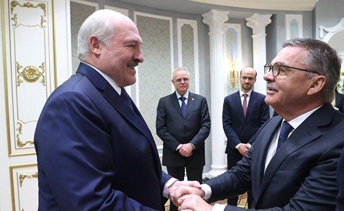 Визит главы Международной федерации хоккея Р. Фазеля в Минск