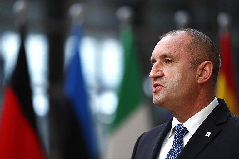 Президент Болгарии Румен Радев на саммите ЕС в Брюсселе