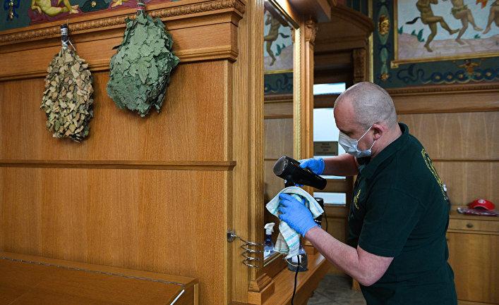 Подготовка к открытию бани после карантина