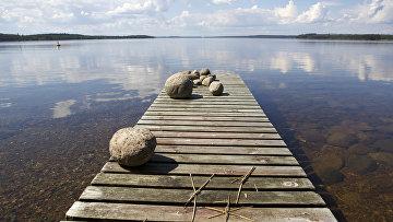 Вид на озеро Сайма в финском городе Иматра