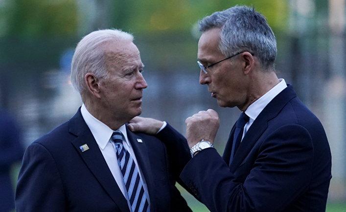 Президент США Джо Байден и генеральный секретарь НАТО Йенс Столтенберг