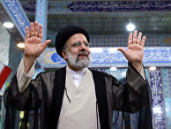 Кандидат в президенты Ирана Ибрагим Раиси на избирательном участке в Тегеране