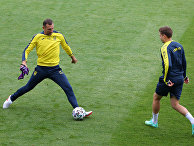 Тренировка украинской сборной по футболу. Евро-2020