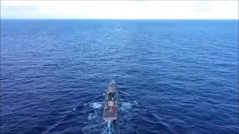 Эпизод оперативных учений сил Тихоокеанского флота в дальней морской зоне