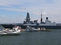 Британский эсминец Defender прибыл в порт Одессы, Украина