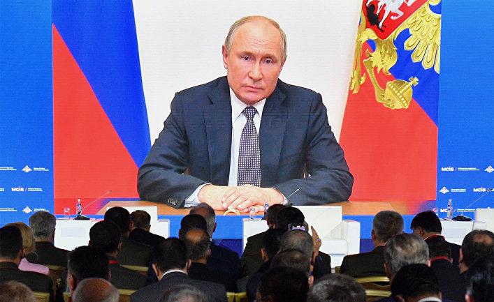 Президент РФ В. Путин выступил с обращением к участникам IX Московской конференции по международной безопасности