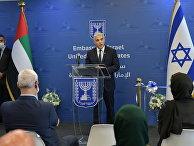 Министр иностранных дел Израиля Яир Лапид во время открытия посольства Израиля в Абу-Даби
