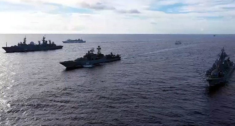 Крупные учения ВМФ России в Тихом океане