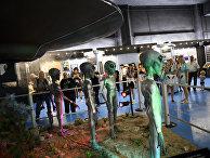 Фигуры инопланетян в Музее НЛО в Розуэлле, США