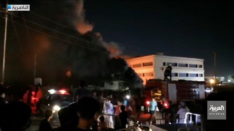 Пожар в коронавирусной больнице в Ираке