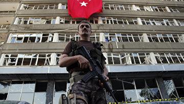 База спецназа в Анкаре, атакованная во время попытки переворота