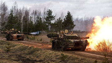 """Танки M1 Abrams на международных военных учениях """"Summer Shield XIV"""" в Латвии"""