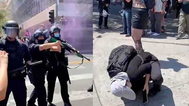 The Guardian (Великобритания): десятки людей арестованы в Лос-Анджелесе на акции протеста
