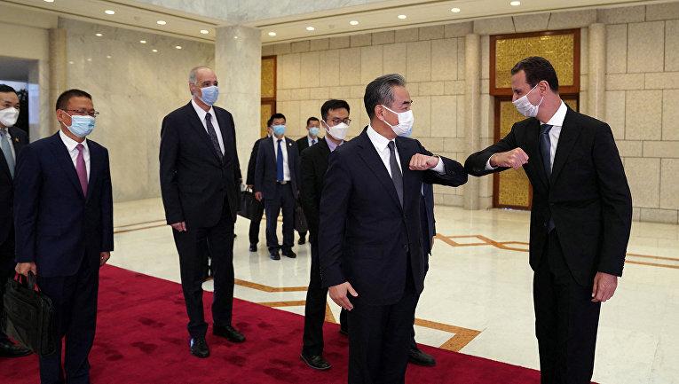 Встреча президента Сирии Башара Асада и министра иностранных дел Китая Ван И в Дамаске