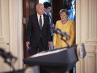 Канцлер Германии Ангела Меркель и президент Джо Байден в Белом доме в Вашингтоне