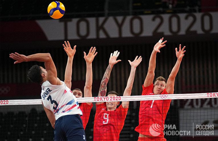 Олимпиада-2020. Волейбол. Мужчины. Матч США - Россия