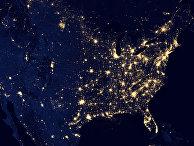 Космический снимок Соединенных Штатов Америки