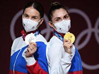 Призеры соревнований по фехтованию на саблях среди женщин на XXXII летних Олимпийских играх