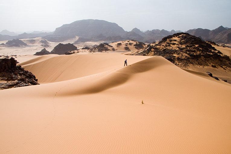 Барханы в пустыне Сахара, Ливия