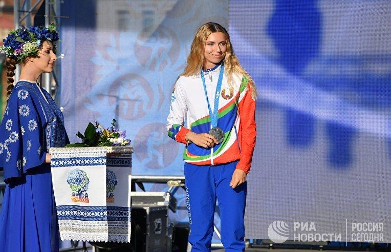 Награждение белорусских легкоатлетов, успешно выступивших на II Европейских играх
