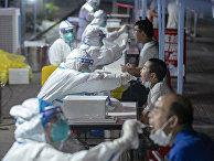 Тестирование на коронавирус в Ухане, Китай