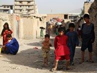 Беженцы из зоны боевых действий в Афганистане