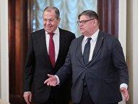 Встреча глав МИД РФ и Финляндии С. Лаврова и Т. Сойни