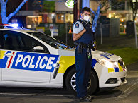 Полиция на месте теракта в Окленде, Новая Зеландия