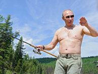 В. Путин на отдыхе. Архив